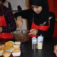 Shaathi Girls Baking Cakes
