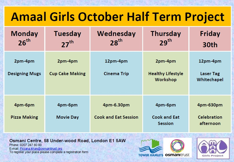 Final Timetable Poster