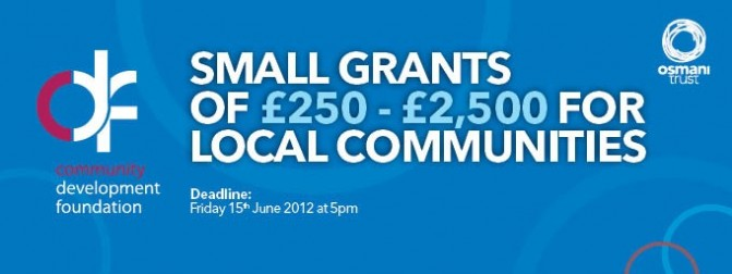 Community First: Small Grants for local communities