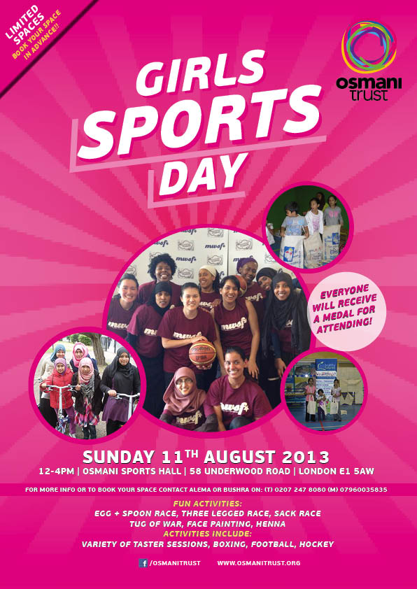 Girls Sports Day Leaflet 2013