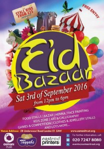 Updated-Eid Bazaar- 3rd Sept 2016