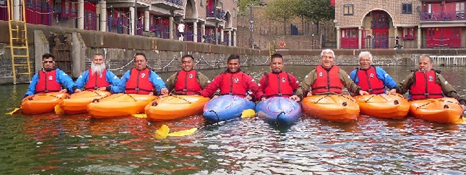 Health Trainers Kayaking Excursion